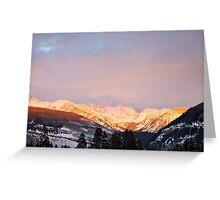 Gore Range, near Vail, Colorado Greeting Card