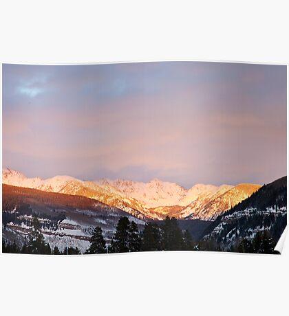 Gore Range, near Vail, Colorado Poster