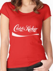 Clutch Kicker - coca cola Women's Fitted Scoop T-Shirt