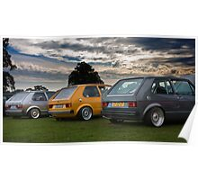 The MIVW Mk1 Golf's at Edition38 2010 Poster