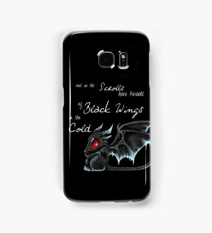 Black Wings (White Lettering) Samsung Galaxy Case/Skin