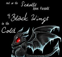 Black Wings (White Lettering) by Ebonmere