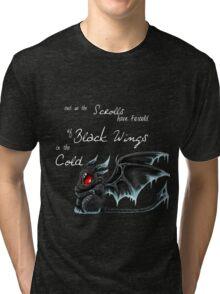 Black Wings (White Lettering) Tri-blend T-Shirt