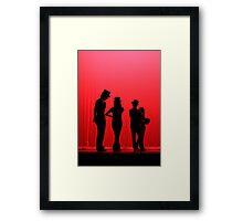 Dancers Waiting on Stage Framed Print