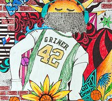 Brittney Griner Drawing by Cheryl Vorhis