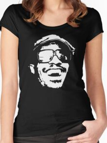 Stevie Wonder new stencil Women's Fitted Scoop T-Shirt
