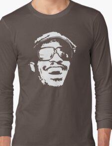 Stevie Wonder new stencil Long Sleeve T-Shirt