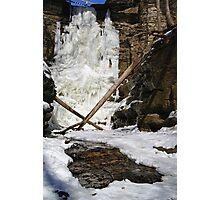 A Frozen Lake Falls Photographic Print