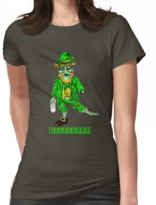 Leprechaun Zombie Womens Fitted T-Shirt