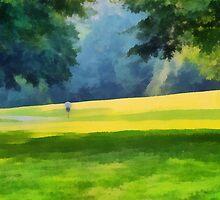 Solitary runner..... by DaveHrusecky
