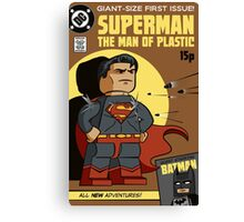 Superman - The Man of Lego Canvas Print