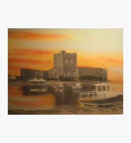 Carrickfergus Castle at dawn Photographic Print
