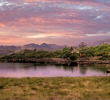 Sunset over the Connemara - Connemarra National Park, Ireland by Mark Richards
