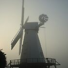 Dawn Mist At Woodchurch Mill by Dave Godden