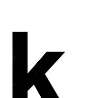 Helvetica Lowercase - k by edgargarcia