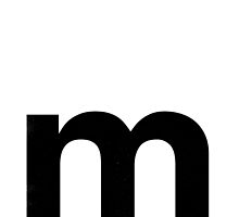 Helvetica Lowercase - m by edgargarcia