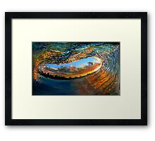 A great day to surf Framed Print