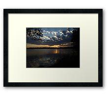 Sunset Lake Harriet Framed Print