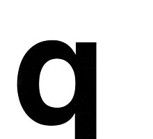 Helvetica Lowercase - q by edgargarcia
