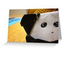 Origami Panda Greeting Card