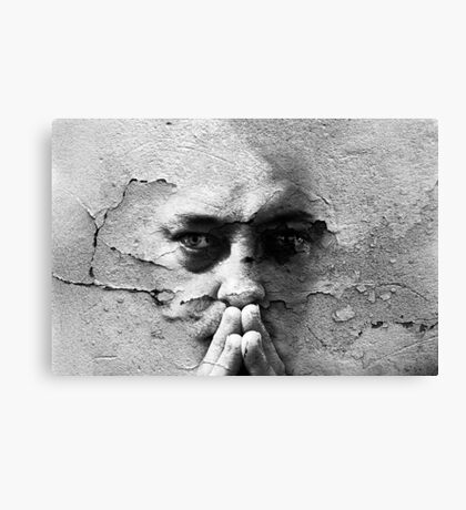Talking To A Wall Canvas Print