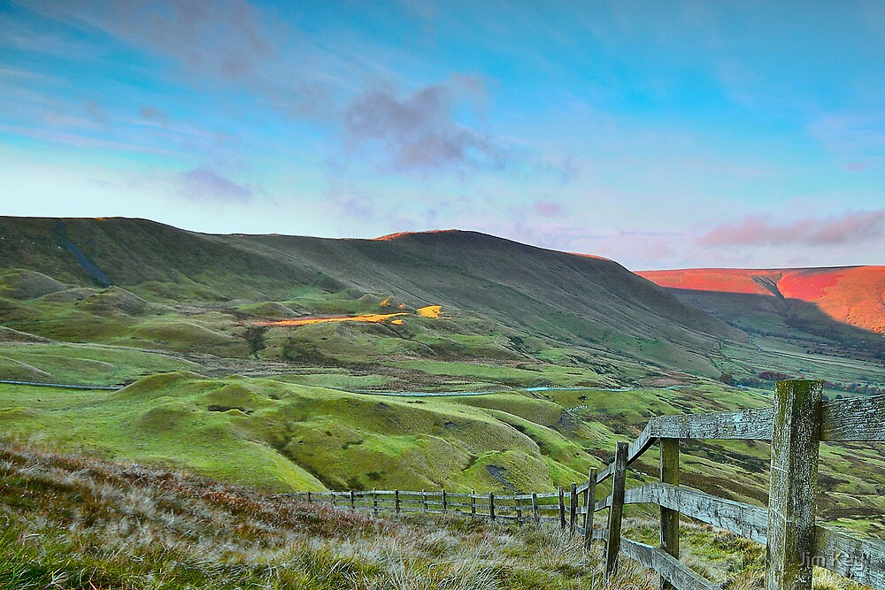 """""""The Great Ridge from Mam Tor""""  The Peak District  by James  Key"""