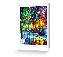 Night Colors Greeting Card