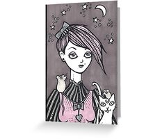Moonlit Melody Greeting Card