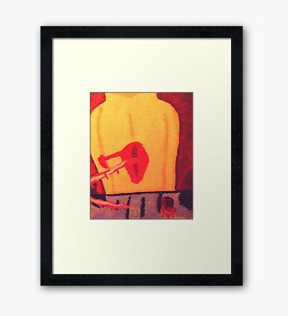 murder on the table Framed Print