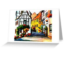 Germany - Town on The Hill Greeting Card