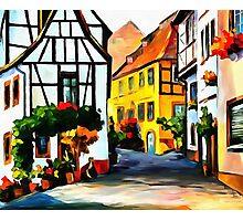 Germany - Town on The Hill Photographic Print