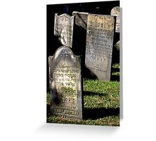 Jewish Cemetery Greeting Card