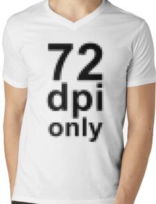 72 dpi Mens V-Neck T-Shirt