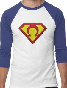 OMEGAMAN! (Son of Jor-El version) Men's Baseball ¾ T-Shirt