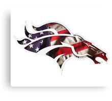 Denver Broncos logo 5 Canvas Print