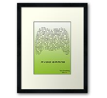 Anti Gaming Campaign Framed Print