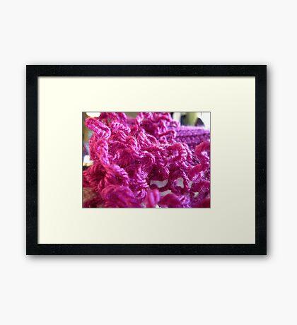 Pink Yarn Framed Print