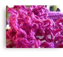 Pink Yarn Canvas Print