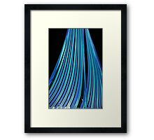Streams of blue Framed Print