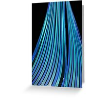 Streams of blue Greeting Card