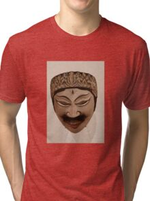 INDONESIAN MASK Tri-blend T-Shirt