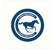 Indianapolis Colts logo 4 Art Print