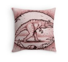 The Carnotaurid Throw Pillow
