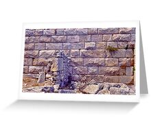 Ancient Thera Precision Stonework Greeting Card