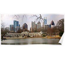 Atlanta from Piedmont Park Poster