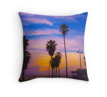 Sunset on Venice Beach in CA Throw Pillow