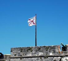 Spanish flag over Castillo San Marcos by Ben Waggoner