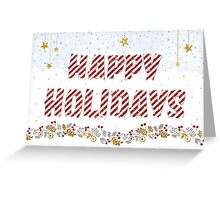 Christmas Card - Happy Holidays Text in Snow Greeting Card