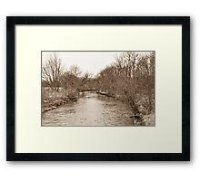 Parker City Stream Framed Print