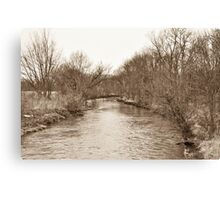Parker City Stream Canvas Print